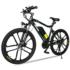 """ALL-NEW E-Bikes by GOTRAX - This 26"""" electric mountain bike is part of the new high performance series of electric bicycles by GOTRAX. Bigger Motors, longer distance, Shimano 21-Speed Shifter, attractive appearance and custom aluminum alloy rims. Up ..."""