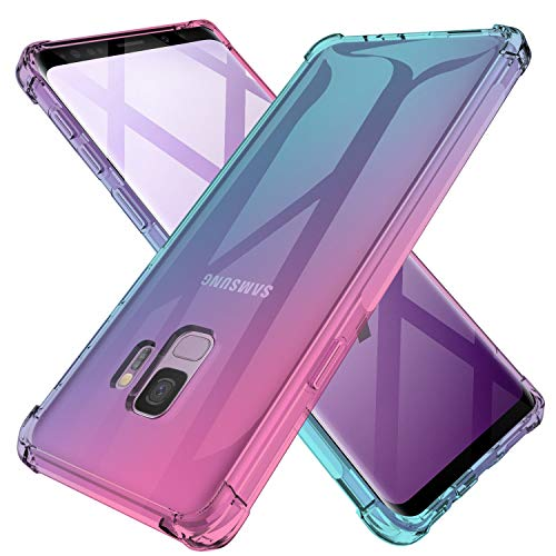 Galaxy S9 Case Clear Cute Gradient Shockproof Bumper Protective Case...