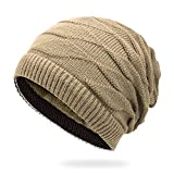 ZXYSMM Sombreros de otoño e invierno para hombres y mujeres, gorros de punto, capuchas abrigadas de doble...