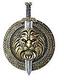 California Costumes Men's Gladiator Combat Shield & Sword Costume Accessory, Gold/Silver, One Size