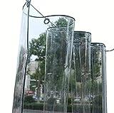 Lona Transparente Impermeable,Parabrisas de Balcón Cortinas PVC con Ojales,para Plantas de Muebles de Jardín Invernadero Techo de Estantería para Mascotas Lona de Protección (2x2m/6.6x6.6ft,0.3mm)