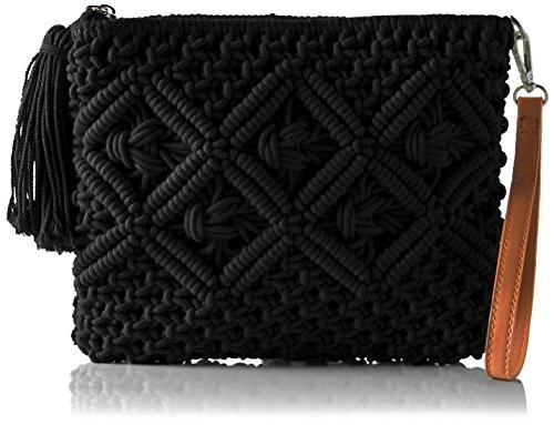 Buffalo BAG S017-269 TEXTILE Damen Clutch 2x21x26 cm (B x H x T), Schwarz (BLACK 01)
