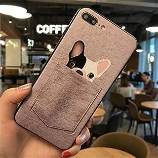 b23fef8d6 1 piece Cute Cartoon Bulldog Pocket Phone Case For iPhone 7 6 6S Plus  Lovely 3D