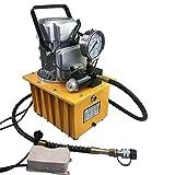 Válvula magnética de 2 niveles, bomba hidráulica eléctrica, 750 W, 220 V, PSI, bomba hidráulica, 700 bares, con pedal manual, bomba de motor hidráulico, 7 L, 70 MPA