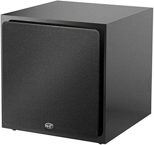 NHT SS-10 10-inch Long Throw 250 W Powered Subwoofer | Sealed Box | Deep Musical Bass | High Gloss Black Laminate