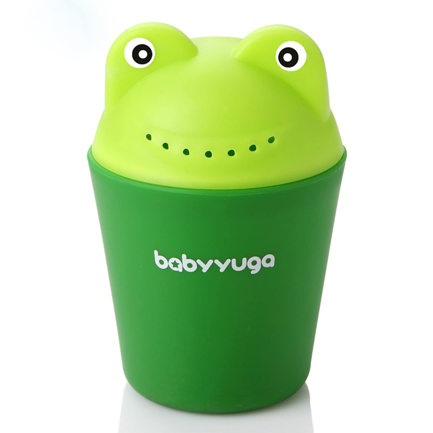Baby Shampoo Rinse Cup Baby Bath Rinser Wash Out Shampoo Cute Frog Design for Baby Infants Toddlers Green
