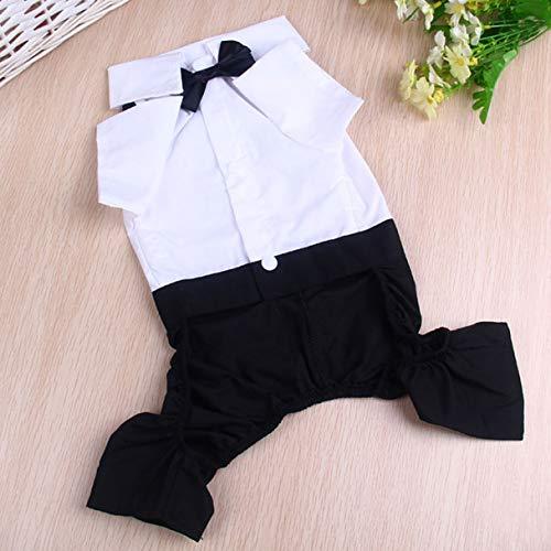 Nortongrace ökonomisch New Dog Pet Bib Puppy Clothes Tuxedo Bow Tie Shirt Anzug Stylish Apparel Outfit(None 2XL Suit XXL)