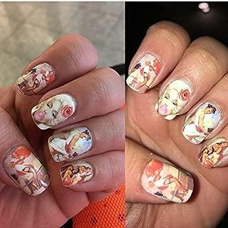 Vedette showgirl Adult sex games burlesque dancer NAIL ART STICKERS 1950s lingerie models vintage playboy bunny NAIL DECALS NAIL VINYLS acrylic nail accessories natural manicure nail wraps NAIL FOILS