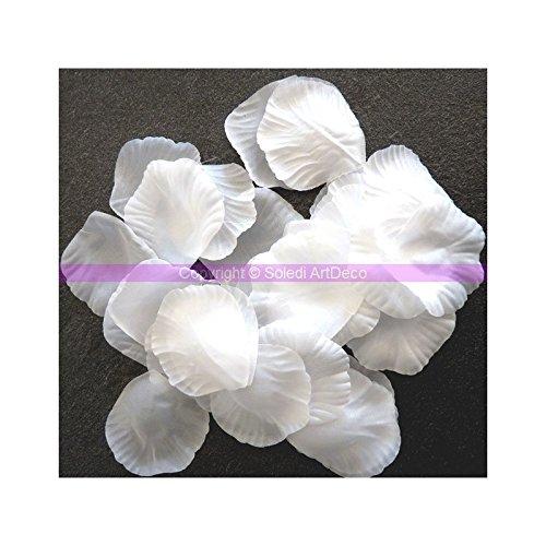 Lot de 100 Pétales de Rose Blanche en Tissu, à parsemer, 4,5x5cm