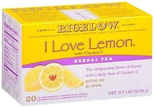 Bigelow I Love Lemon Herb Tea 20 bags (pack of 2) by Bigelow Tea