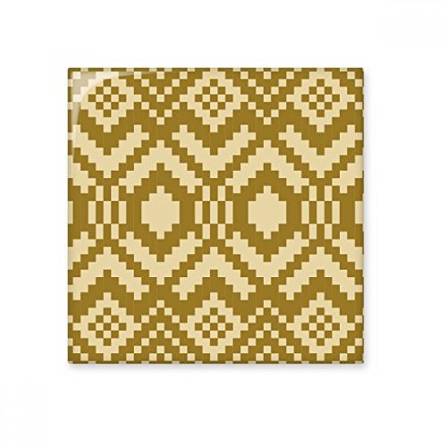 DIYthinker Tan Beige Symmetrical Platz Hexagonal Nordic Illustration Muster Keramik Bisque Fliesen für Dekorieren Badezimmer-Dekor Küche Keramische Fliesen Wandfliesen L