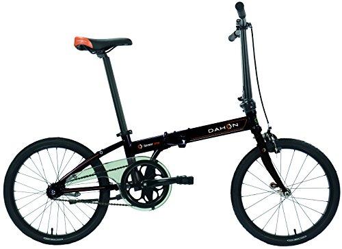 Dahon Jifo Bicicleta Plegable para Adulto, Shiny Black, Talla 16