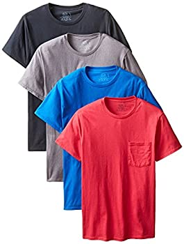 Fruit of the Loom Mens Crewneck T-Shirts Assorted XXX-Large  Pack of 4