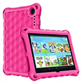 Fire HD 8 Tablet Case 10th Generation, Kids Case for Amazon Kindle Fire 8 / 8 Plus Tablet 10th Gen 2020 Release, Ubearkk Light Weight Shock Proof Anti Slip Protective Cases and Cover (Pink)
