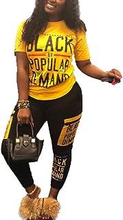 Womens Sexy 2 Piece Sports Outfit Shirt Bodycon Pants Joggers Clubwear Tracksuit Sportswear Set