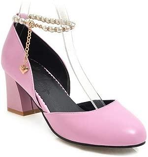 BalaMasa Womens ASL06359 Pu Block Heels