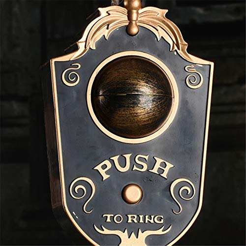 ZJM Halloween Eye Doorbell Horror Blinking Party Leader Vocal Props Whole Toy Lightly Ring The Doorbell Eyes Open Eyeballs Turn with Welcome Horror Sound One-Eyed Doorbell