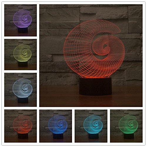 LED 3D USB Escritorio Mesa Tamp cristal Acrílico Lámpara de mesa Mesita de noche Decoración para el hogar Juguete Regalo para niños Dibujos animados Creativo Abstracto Figura geométrica Form