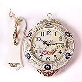 LG Snow Campana del Reloj De Pared Minimalista De Gama Alta De Doble Cara Atmósfera De Estilo Europeo Mudo De Pared De Cuarzo Reloj De Estudio De Decoración De La Mesa 36.5cm * 36.5cm
