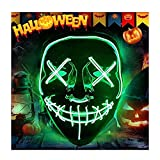 Purge Halloween Mask for Adults,LED Light Up Scary Mask,for Costume Masquerade Cosplay Festival