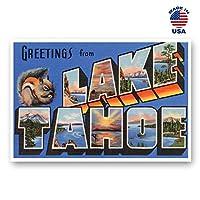 カリフォルニア州タホ湖からのGREETINGS ビンテージ復刻はがき20枚セットです。 Lサイズ タホ湖 ネームポストカードパック 1930年代-1940年代)。 アメリカ製。