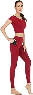 comprar comparacion Xinwcang Conjunto De Chándal para Mujer Top Corto Y Pantalones Leggings Deportivos Conjunto De Yoga Chándal Chándal De Inv...
