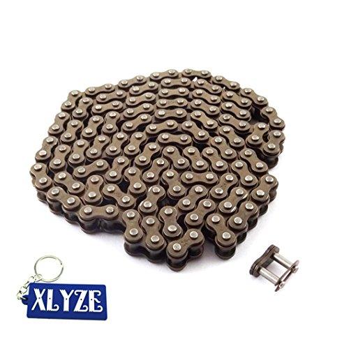 XLYZE 25H 146 Cadena de enlaces con Spare Master Link para 43cc 47cc 49 cc Mini Moto Dirt ATV Quad Pocket Bike
