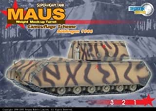 DRAGON ARMOR 1/72 Scale Prefinished Fully-Detailed Model, Soviet- Captured German WWII Sd.Kfz.205 Panzer VIII Maus Super Heavy Tank with Weight Mock-up Turret and Delivery Paint Scheme Boblingen 1945 60157