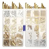 Hedume 360 Pieces M2 M3 M4 Male Female Brass Spacer Standoff Screw Nut Assortment Kit, Pre...