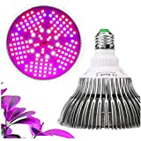 LED Grow Light 100W E27 Base Plant Lights Full Spectrum Plant Light Growing Lamps for Hydroponic & Greenhouse Indoor Plants, Flowers, Vegetables Growing