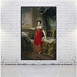Pintura de lienzo al óleo vicente lopez y portana para decoración del hogar arte de pared -60x80cm sin marco