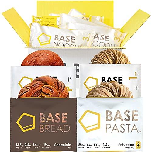 BASE BREAD ベースフード 完全食 スタートセット 完全栄養食 食物繊維 (フェットチーネ2食 アジアン2食 プ...