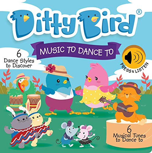 DITTY BIRD Baby Sound Book: Our Music to Dance to Musical Book for Babies is The Perfect Toys for 1 Year Old boy and 1 Year Old Girl Gifts. Interactive Educational Music Toy for Toddlers 1-3