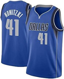 ダークノビツキーバスケットボールユニフォームダラスマーベリックス#41、アウトドアスポーツのためのメンズメッシュヴィンテージスウィングマン制服ベスト、吸湿発散性、速乾性パーフェクト