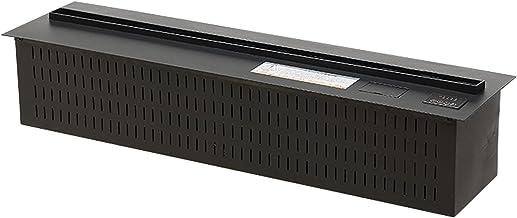 zxb-shop Chimenea de Dormitorio Chimenea eléctrica Panel Ultrafino Empotrado □ Chimenea eléctrica con Control Remoto, Llamas largas 3D, L 31.5