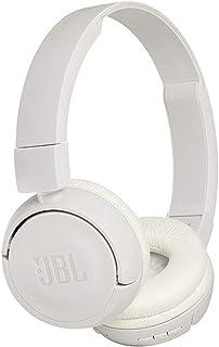JBL T450BT - Auriculares de diadema inalámbricos con Bluetooth 4.0, sonido Pure Bass, 11 h de música continua, blanco