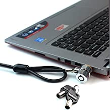 RUBAN Notebook Lock and Security Cable (PC/Laptop) Two Keys 6.2 foot (Black)