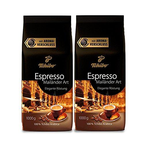 Tchibo Espresso Mailänder Art ganze Bohne, 2 kg (2 x 1 kg)