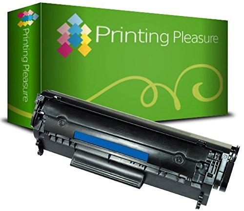 Printing Pleasure Toner kompatibel zu Q2612A FX-10 703 für HP Laserjet 1010 1012 1015 1018 1020 1022 1022n 3010 3015 3020 3030 3050 3055 M1005 M1319f Canon LBP2900 LBP2900i - Schwarz, hohe Kapazität