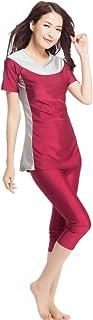 ملابس سباحة للنساء اكمام قصيرة بتصميم محتشم على النمط الاسلامي من كابتن سويم