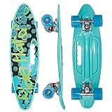 HBHHYRT Mini Cruiser Skateboard 23 Inch Skateboard Completo Rodamiento ABEC-7 Y Rueda De PU De Alta Elasticidad para Adultos, Adolescentes Y Niños