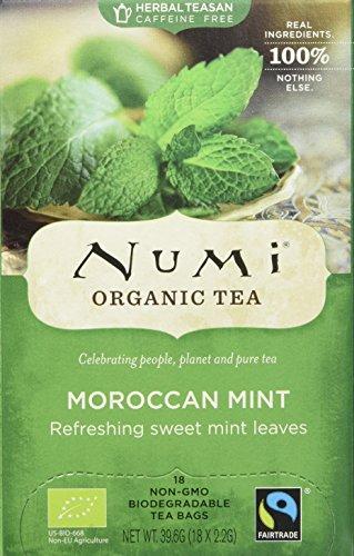 Numi Organic Moroccan Mint - Simple Mint 18 Beutel, 3er Pack (3 x 40 g) - Bio