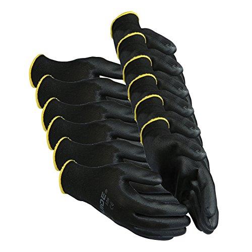 6 x Guide 526 dünne Schutzhandschuhe aus nahtlosem Polyester-Garn mit Handschuhberater, 6 Paar-9