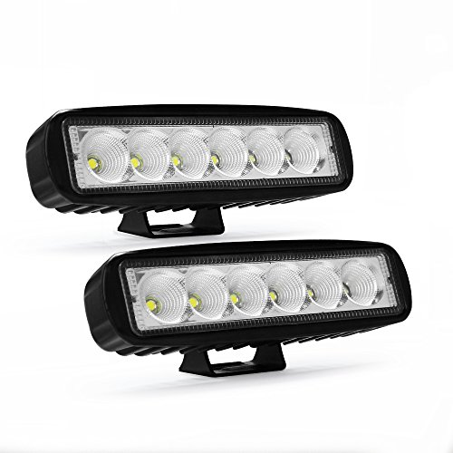 Modern Car 18W Led Light Bar, 4 inch Led Flood Beam Driving Fog Light Off Road Lights Boat Lights Driving Lights Bar Led Work Light SUV Jeep Lamp, 2 years Warranty