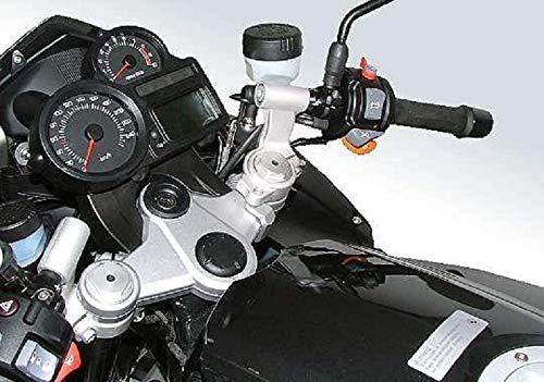 Kit de conversión de manillar y elevador de manillar con desalineación de 60 mm superior ABE para BMW R1200ST 2004-2006.