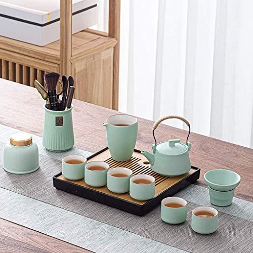 ZJZ Juego de té de cerámica Moderno, Tetera, Ceremonia de té, Estudio de Oficina, Juego de té, Regalo para Amigos