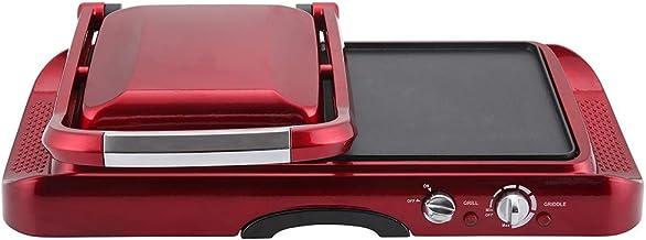 Retro Line Grill met grillplaat RLMFG Kleur Rood Metallic 1600 W