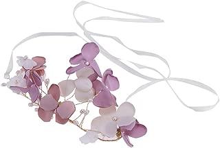 MagiDeal Fashion Pearl Floral Headband Wedding Bridal Vine Tiara Hair Band Head Piece Gift