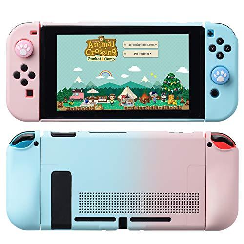 Nintendo Switch 対応 カバー、switch 対応 カバーラウンドなシリコーン保護カバー 任天堂スイッチ カバー 対応 アクセサリ 無料ロッカーカバー(ブルーパウダー)