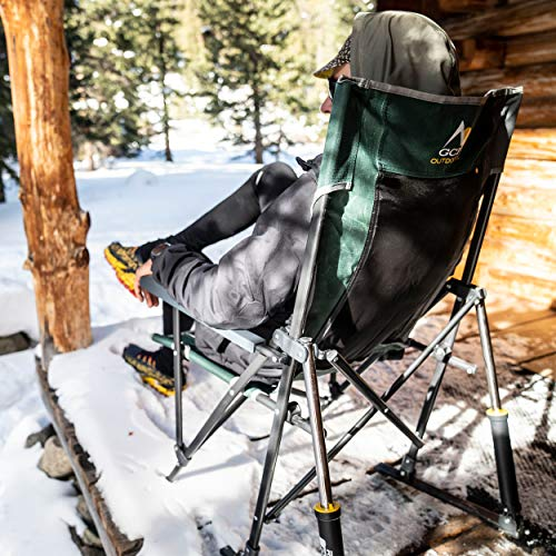 GCI Outdoor Roadtrip Rocker Collapsible Rocking Chair & Outdoor Camping Chair